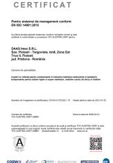 2.1 - Certificat ISO 14 001 - 2015 TUV Epta DAAS -ro